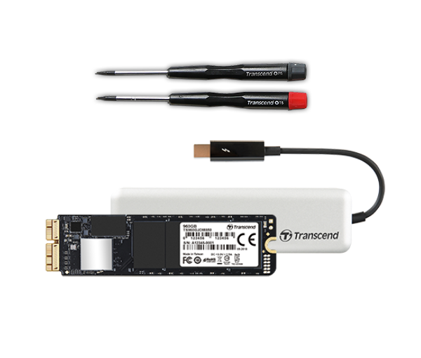 960GB High Performance NVME M.2 Transcend Jetdrive 855 SSD and cloning kit for late 2013 and later MacBook Pro & Air & iMac Apple compatible